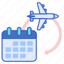flight, itinerary, schedule, travel icon