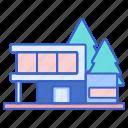 accomodation, building, house, villa icon