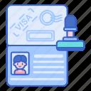 document, identification, passport, visa