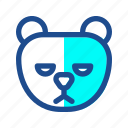 bears, furry, grizzly, polar, seasons, snow, winter icon