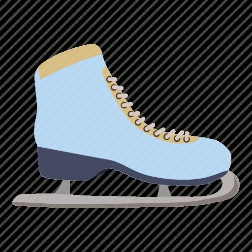 blade, boot, cartoon, ice, shoe, skating, sport icon