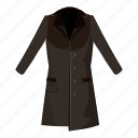 cartoon, cloth, coat, fashion, female, jacket, men icon