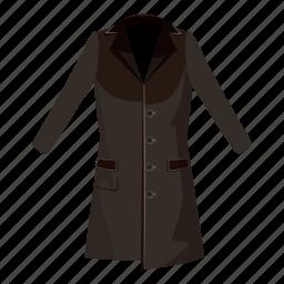 cartoon, cloth, coat, fashion, female, jacket, men icon