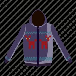 cartoon, cotton, jacket, sleeve, sweatshirt, textile, zipper icon