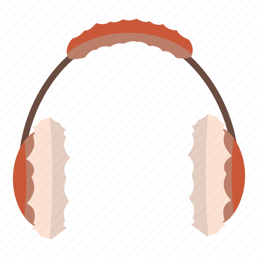 accessory, cartoon, ear, earmuff, fur, headphone, winter icon