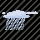 cartoon, cloud, heavy, nature, rain, sky, water icon