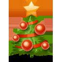 Vánoční, strom ikona