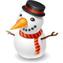 christmas, snowman, winter icon