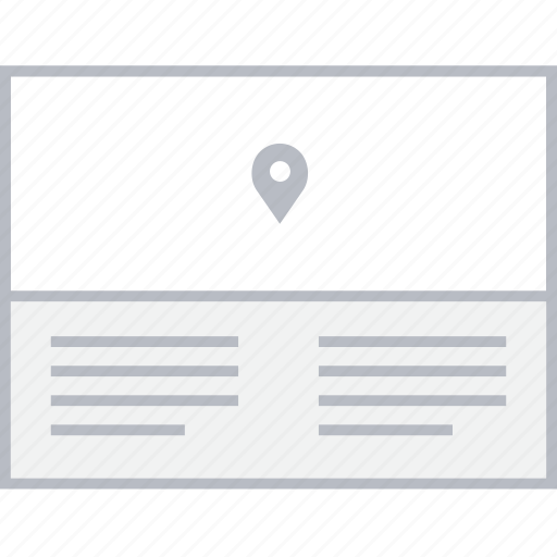 location, map, style, ui, web, wireframe icon