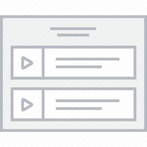 list, media, style, ui, web, wireframe icon