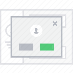 confirm, contact, delete, style, ui, web, wireframe icon