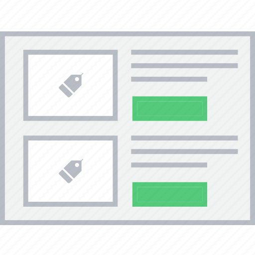 info, product, shop, style, ui, web, wireframe icon
