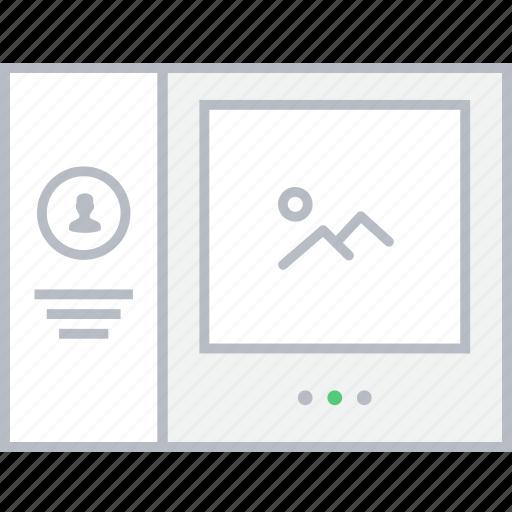 contact, image, slider, style, ui, web, wireframe icon