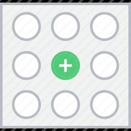 add, grid, image, style, ui, web, wireframe icon