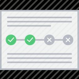 style, timeline, ui, web, wireframe icon