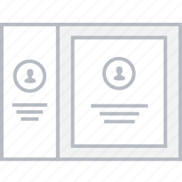 card, contact, info, style, ui, web, wireframe icon