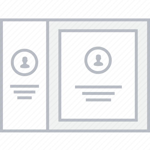 Card, contact, info, style, ui, web, wireframe icon - Download on Iconfinder