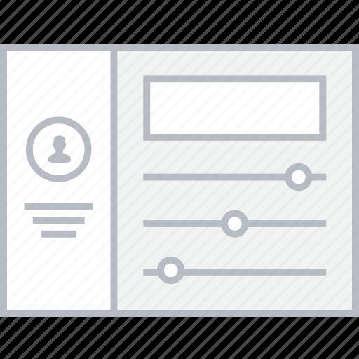 settings, style, ui, web, wireframe icon