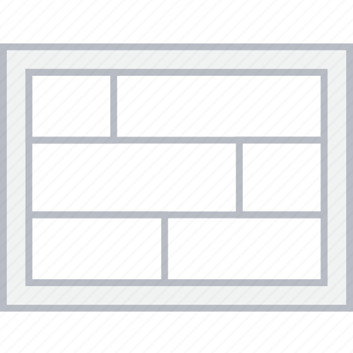 grid, layout, page, style, ui, web, wireframe icon