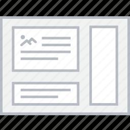 image, layout, page, style, ui, web, wireframe icon