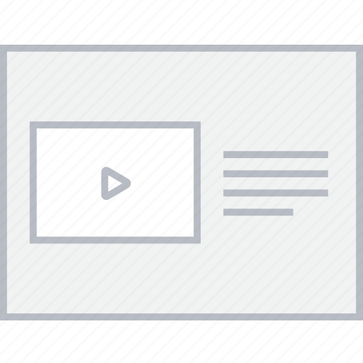 file, play, style, ui, web, wireframe icon