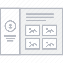 image, profile, style, thumbs, ui, web, wireframe icon