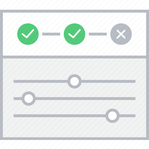 settings, style, timeline, ui, web, wireframe icon