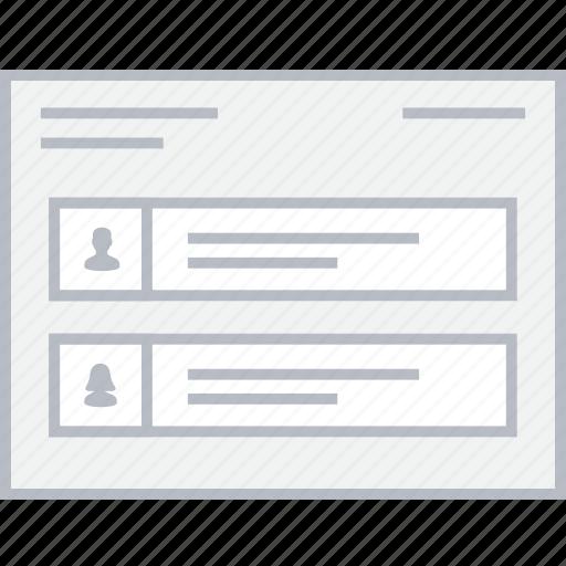 info, profile, style, ui, web, wireframe icon