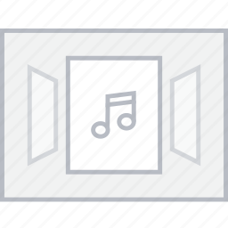 accordian, music, style, ui, web, wireframe icon