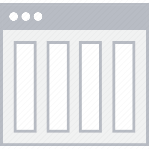 Column, layout, page, style, ui, web, wireframe icon - Download on Iconfinder