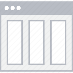 column, layout, page, style, ui, web, wireframe icon