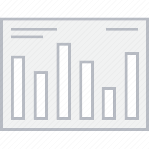 bar, chart, stats, style, ui, web, wireframe icon