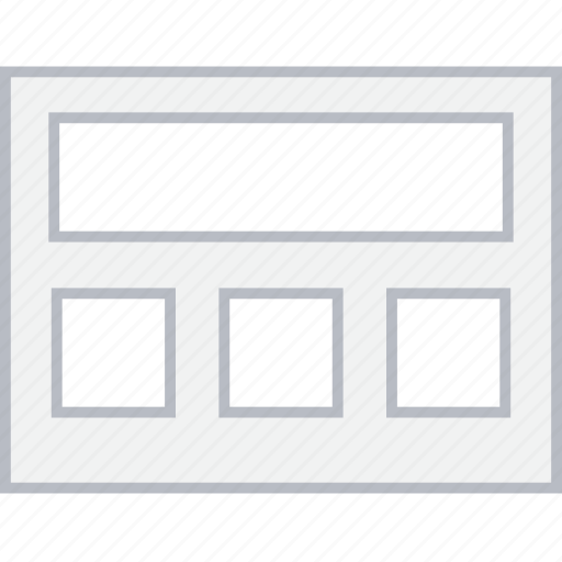 grid, header, layout, style, ui, web, wireframe icon