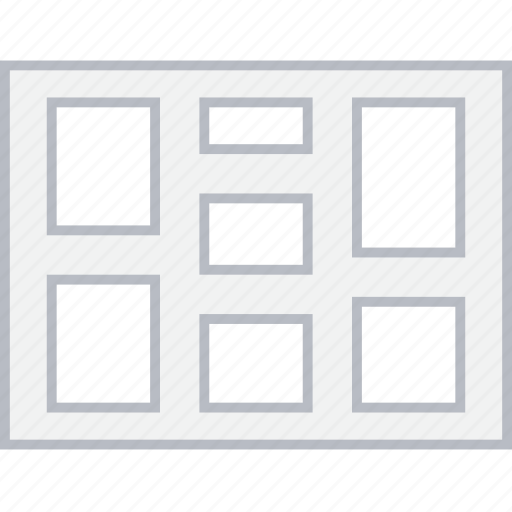 column, layout, page, split, ui, web, wireframe icon