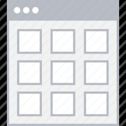 grid, style, thumb, ui, web, wireframe icon