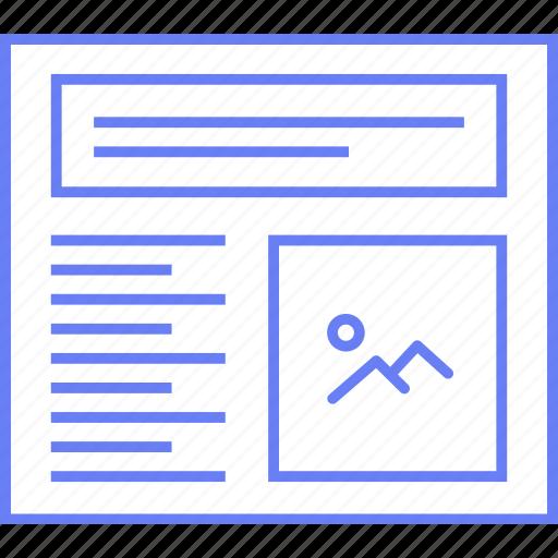 image, layout, style, text, ui, web, wireframe icon