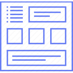 multigrid, style, ui, web, wireframe icon