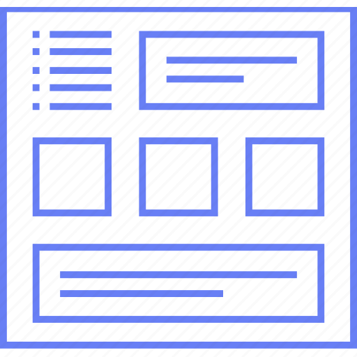 Web, multigrid, wireframe, ui, style icon - Download
