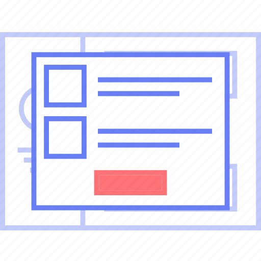 info, popup, style, tab, ui, web, wireframe icon