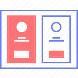 features, pricing, style, table, ui, web, wireframe icon