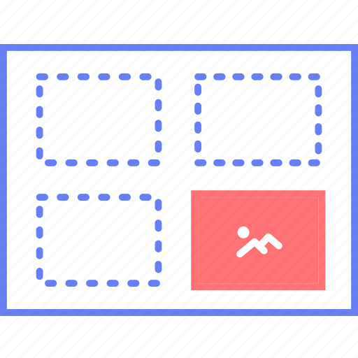 image, style, ui, uploader, web, wireframe icon