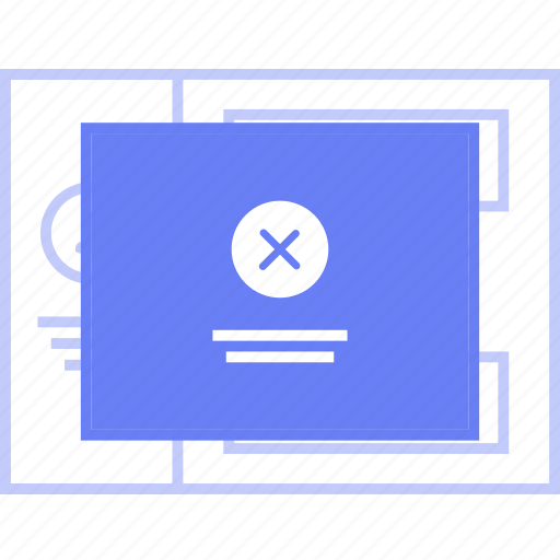 delete, popup, style, ui, web, wireframe icon
