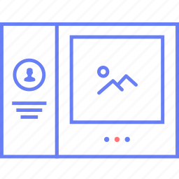contact, for, image, slider, ui, web, wireframe icon
