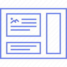 image, layout, page, style, ui, web, wireframe icon