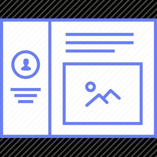 image, large, profile, style, ui, web, wireframe icon