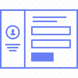 info, style, ui, update, user, web, wireframe icon