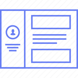 info, style, ui, user, web, wireframe icon