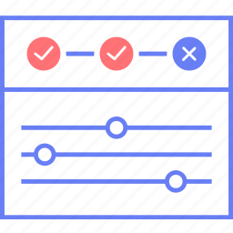 settings, style, timeline, ui, web, wireframe icon