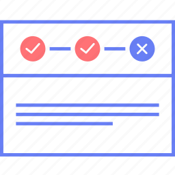payment, process, style, ui, web, wireframe icon