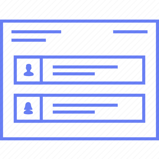 info, profile, style, ui, web, wireframe icon